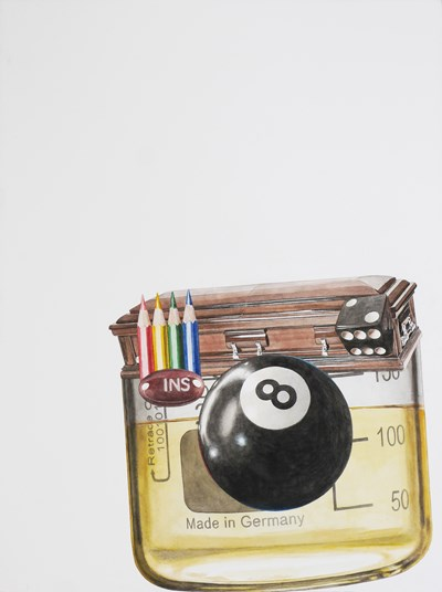 Alfred Steiner - Camera, 2015 - Watercolor on arches 300 lb. hot press paper - 76 x 58 cm, 29.9 x 22.8 in