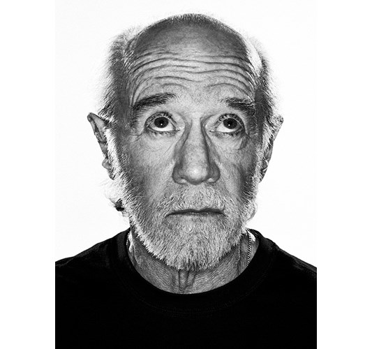 Rainer Hosch - George Carlin, Los Angeles 2004 - Inkjet eco-solvent print on 265 grms MLFD grafiprint paper  Edition of 5 + 2 AP - 104  x 136 cm, 41 x 53.5 in
