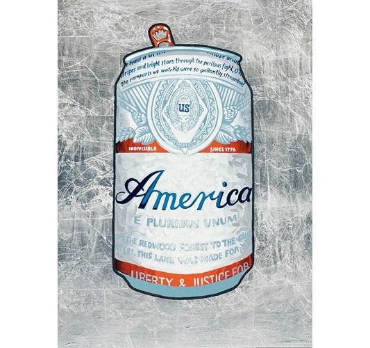 Tom Sanford - American Beer, 2016 - Oil on canvas - 61 x 46 cm, 24 x 18 in
