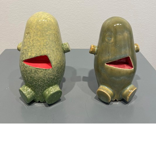 Jud Bergeron - My Pal Foot Foot (Small), 2020 - Slip cast and hand glazed ceramic - 15 x 9 x 9 cm, 6 x 2.5 x 2.5 in
