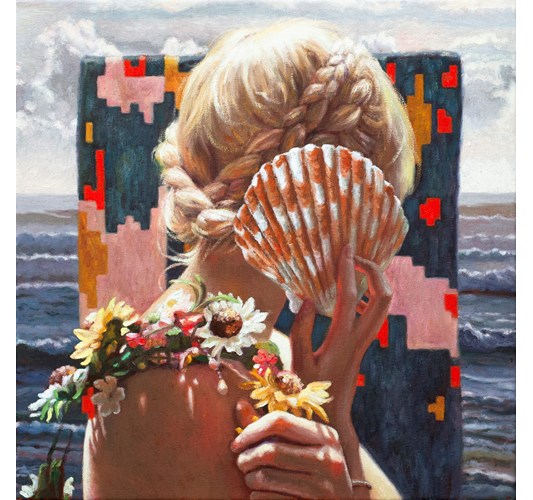 Alison Blickle - Endless Summer, 2020 - Oil on canvas, - 51 x 51 cm, 20 x 20 in