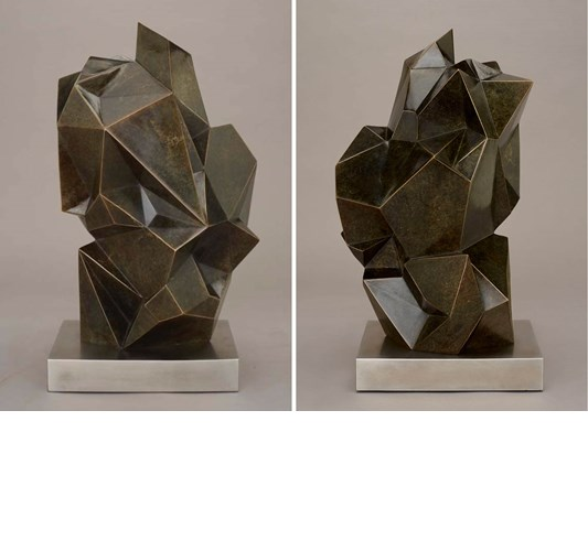Jud Bergeron - Monolith, 2018 - Cast bronze and stainless steel, edition of 9 - 56 x 20 x 25 cm, 22 x 8 x 10 in
