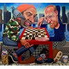 Tom Sanford - Check Mate 2019 - acrylic on canvas - 180 x 200 cm, 71 x 79 in